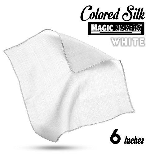 Foulard en soie (15 x 15 cm) - Blanc