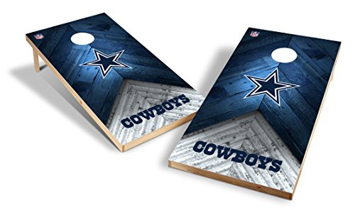 - Wild Sports NFL 2'x4' Dallas Cowboys Cornhole Set