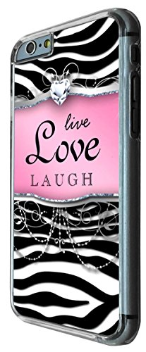 712 - Girly Diamond Live Love Laugh Design iphone 6 PLUS / iphone 6 PLUS S 5.5'' Coque Fashion Trend Case Coque Protection Cover plastique et métal