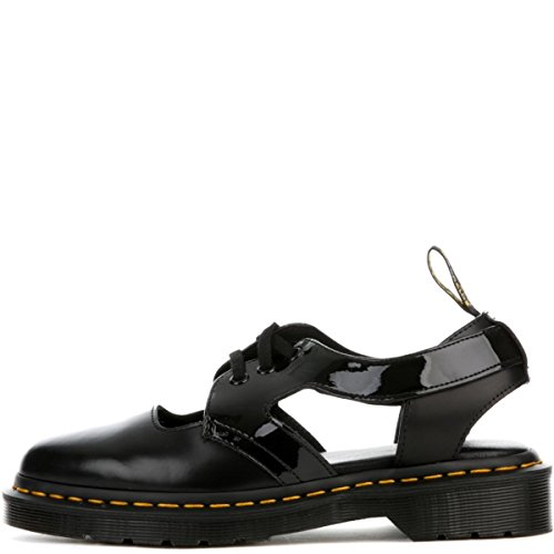 Black Leather Casual Oxfords - Dr. Martens Women's Genna Patent Casual Oxfords, Black Leather, 8 M UK, 10 M US