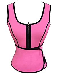 Panegy Women Neoprene Shirts Sauna Suits Tank Top with Adjustable Waist Trimmer Belt