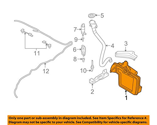 BMW 61 67 7 179 453, Windshield Washer Fluid Reservoir
