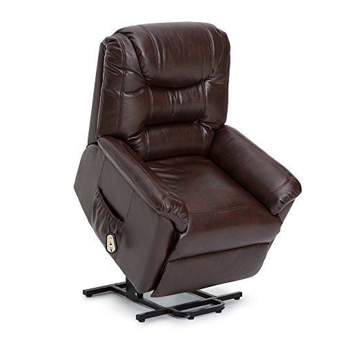 Cheap Seatcraft Valentino Power Lift Reclinable Leather Gel Chair with Extended Recline (Brown)