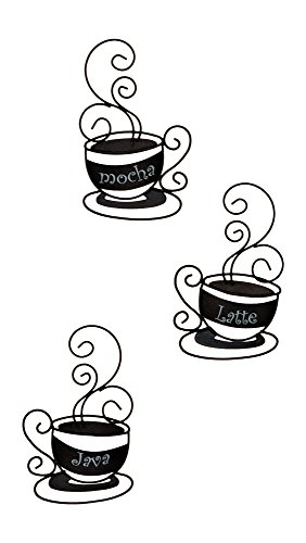 Cafe Wall Decor (Set of 3 Metal Coffee Cups)