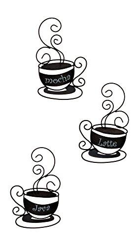 Set Of 3 Metal Coffee Cups