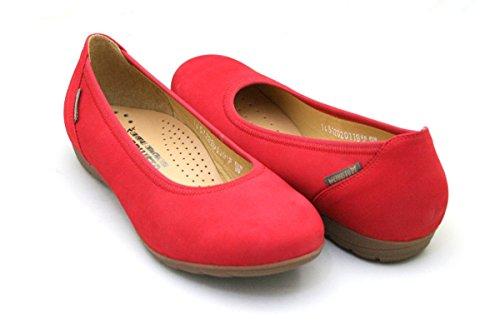 Bailarinas Para Mujer Cuero Rojo Red Mephisto De Emilie 6948 Bucksoft xST0wBAq