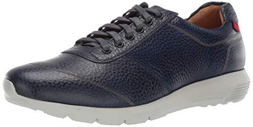 Marc Joseph New York Mens Genuine Leather Chelsea Sneaker, navy pebble grainy 12 M US