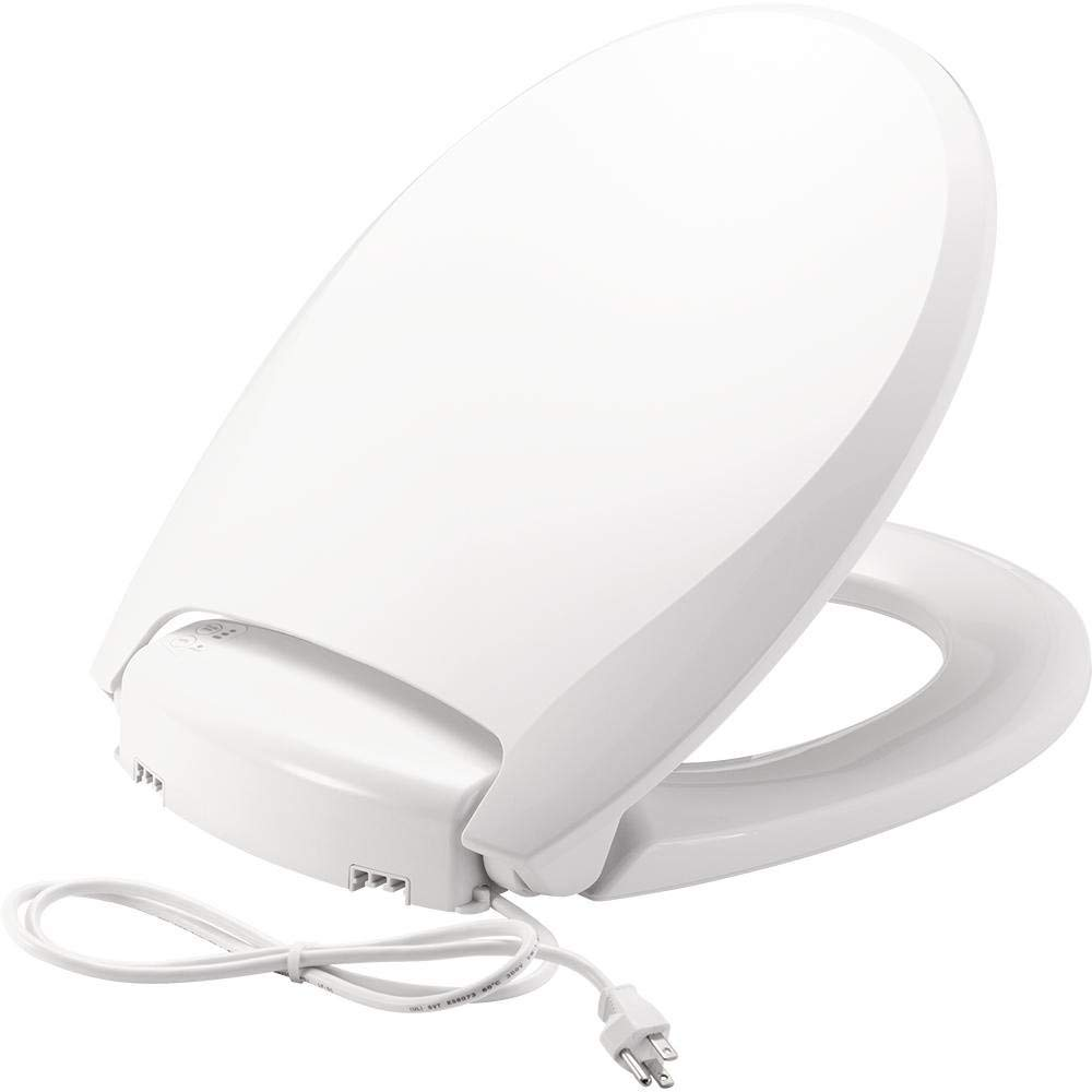 Bemis Radiance Heated Night Light Plastic Toilet Seat, Round, White, H900NL 000