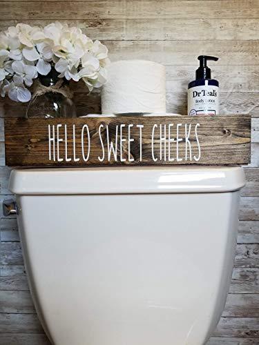 Cotton & Grain Hello Sweet Cheeks Bathroom Toilet Storage Toilet Paper Holder