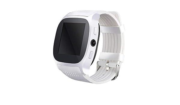 Wolfsay Brazalete Deportivo T8 Hombres Niños Bluetooth Reloj Inteligente con Ranura para Tarjeta Sim Cámara Reloj Despertador MTK6261D 380 mah Batería para ...