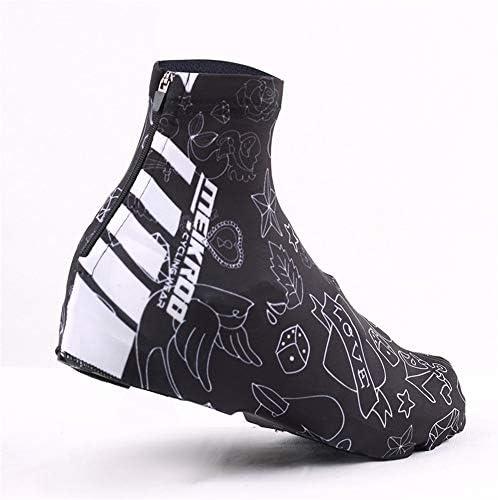 シューズカバー ライディングブーツ屋外クライミングスノーダストウインドシールド風のロックシュー 防風性と防水性 (Color : Black, Size : L)