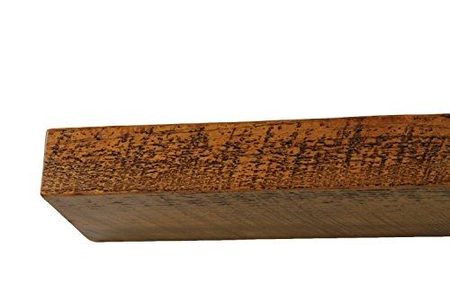30'' W X 7'' D X 3'' H, Rustic Floating Wood Mantel, Shelf, Antique, Wooden, Shelves, Industrial by Joel's Antiques & Reclaimed Decor (Image #5)