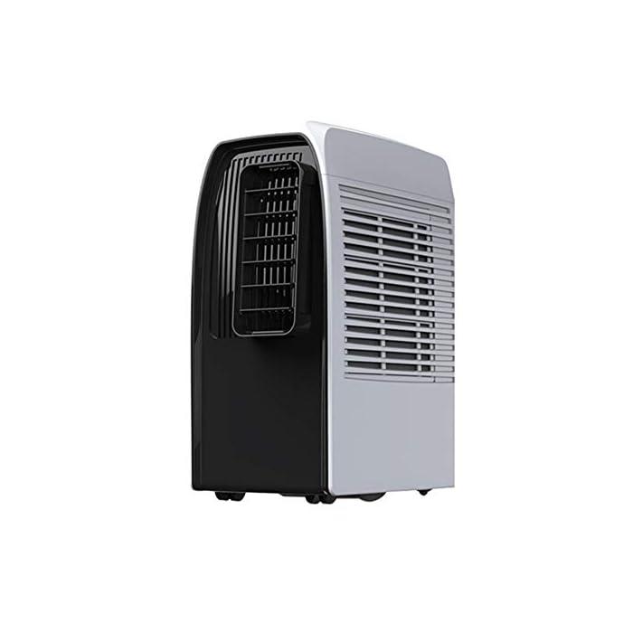 41XK7gbUTVL Multifunción: combinación de aire acondicionado portátil, con enfriador de aire, deshumidificación, ventilador y funciones de calefacción. Función de enfriamiento: capacidad de enfriamiento de 14000BTU, siente el efecto de enfriamiento súper potente, con sistema de filtración de aire, puede mejorar la calidad del aire. Función de deshumidificación: le permite extraer hasta 60 litros de exceso de agua y humedad de la atmósfera todos los días.