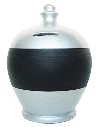 Terramundi Money Pot Chalk Blackboard Personalized Money Pots (Silver BB32) (Personalized Pots)