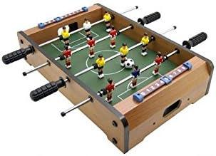 Futbolín de mesa con acabado en madera: Amazon.es: Juguetes y juegos