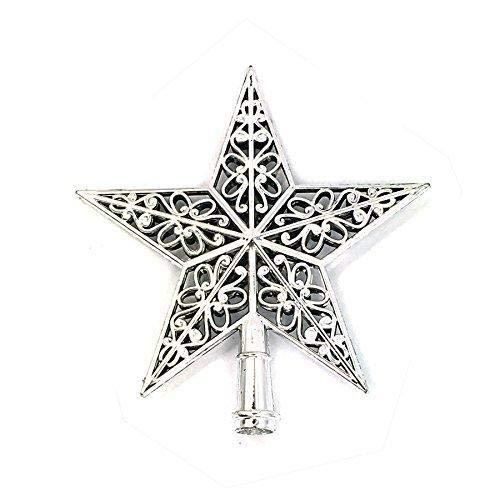Daliuing Ornament 1pcs Fashion Tree Top Sparkle Stars Hang Xmas Decoration Ornament Treetop Topper Decoration