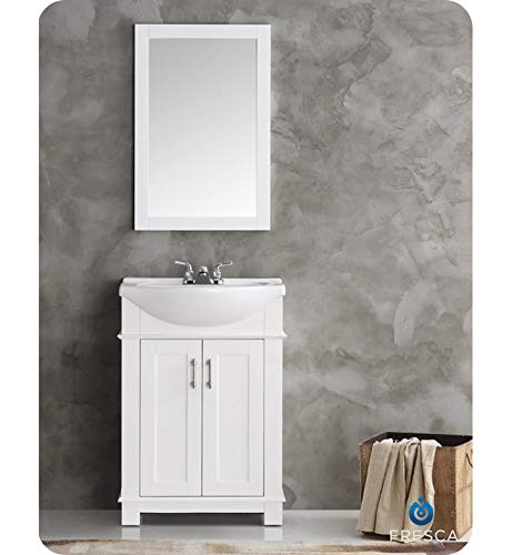 Fresca FVN2302WH-CMB Hartford 24 White Traditional Bathroom Vanity
