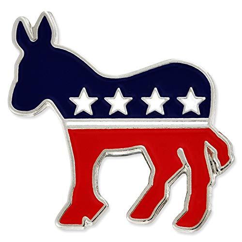 PinMart Democratic Donkey Patriotic Political Lapel Pin -