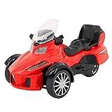 Multifit Kids 1:16 Die Cast Pullback 3 Wheel Motorcycle Toddler Music Lighting ATV Bicycle Gift Car(Orange)