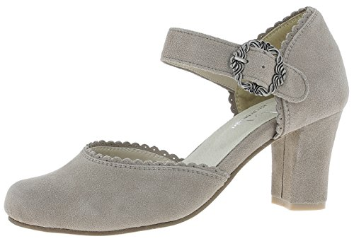 Andrea Conti 3005715066 - Riemchenpumps Met Ruches - Taupe Taupe