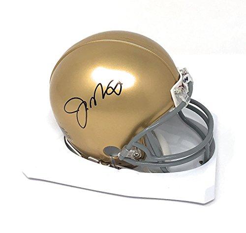(Joe Montana Notre Dame Fighting Irish Signed Autograph Mini Helmet Montana GTSM Player)