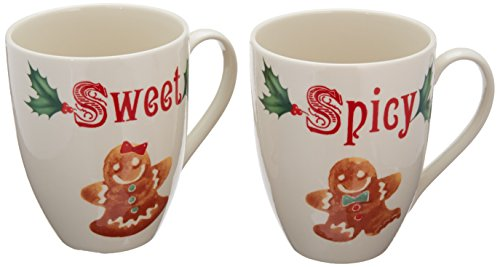Lenox Home for The Holidays Sweet and Spicy Mug Set, Ivory (Gingerbread Dinnerware Set)