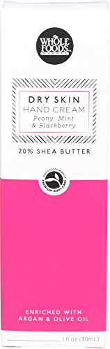 (Whole Foods Market, Peony, Mint & Blackberry Dry Skin Hand Cream, 1 Ounce)