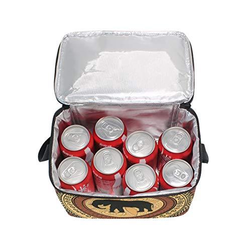 Cooler pique Boîte animaux lunch repas pour Sac africains Bandoulière Motif Wildlife à nique g4qx6wX