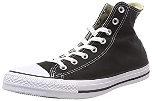 Converse Clothing & Apparel Chuck Taylor All Star High Top Sneaker, Black, M 8 / W 10