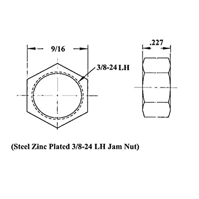 QSC 3/8 X 3/8-24 Economy 4-Link Rod End Kit with Bungs .058 Wall, Rod End, Heim Joint: Automotive