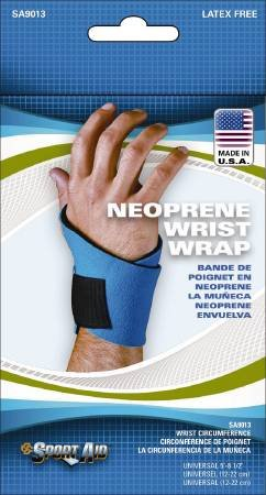 Alimed Wrist Wrap Sport-Aid Wraparound Neoprene, Plush Fabric Left or Right Hand Blue One Size Fits Most Inch