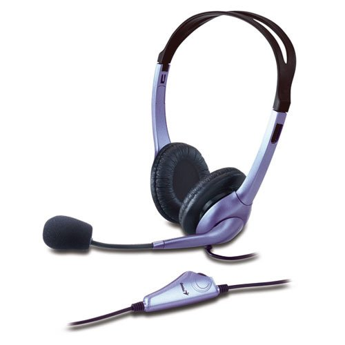 - Genius HS-04S (Noise-canceling Microphone) Headset with Noise-Canceling Microphone. Microphone Filters Out unwanted Background Noise.