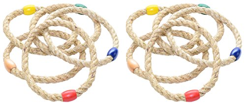 MABUA 10 Quoits Ropes Ring Toss Games, Pay Less Get More! -