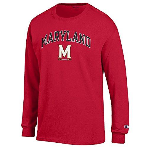 Elite Fan Shop Maryland Terrapins Long Sleeve Tshirt Arch M Red - M Arch T-shirt