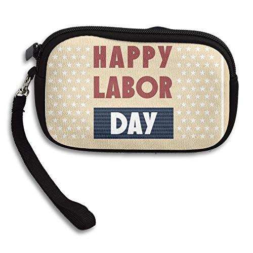 WCVRUT Unisex Clutch Wallet For Woman Ladies -Happy-Labor-Day-America Long Purse Bag Men Gentlemen by WCVRUT