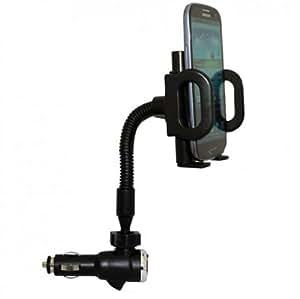 Fonus Universal Rotating Car Mount Lighter Socket Dock Holder with Charging USB Port for US Cellular HTC Hero S (EVO Design), Motorola Electrify 4G, LG Genesis US760