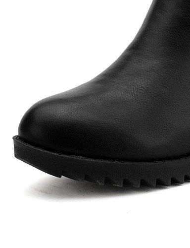 Punta Trabajo us6 us8 Cerrada Y Brown Eu36 Mujer Zapatos Sintético Exterior Bajo Black Cuero Oficina Tacón Xzz Uk4 Cn39 Cn36 Redonda De Eu39 Vestido Botas Casual Uk6 xX7wC0q