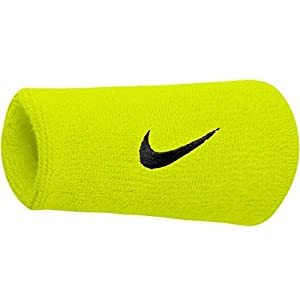 Amazon.com: Nike Swoosh Doublewide Wristbands (Atomic