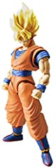 A new breed of action figure model kit that blends high articulation and detailed sculpts together in one package! Super Saiyan Goku is constructed using layered colored plastic techniques that blend the seam lines together with the folds of ...
