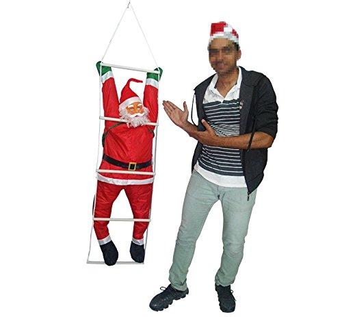 Papai Noel Escada Natalino Escalador Enfeite Natal Decoracao (BSL-36041-12)