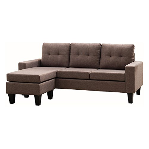 Milton Greens Stars Douglas SECTIONAL Sofa with Reversible Chaise, Dark Brown