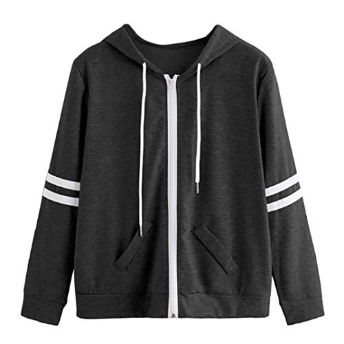 Ladies Gray Sweatshirt Pocket Coat Hooded Patchwork Coats Sleeve Hooded Zipper Women Deep Long Tomatoa Pocket Skinsuits Sport 6qwFRF