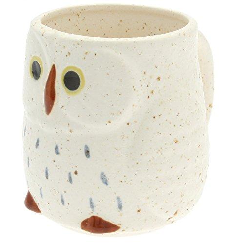 Japanese Owl Ceramic Mug :Snow #113-756 by 123kotobukijapanstore
