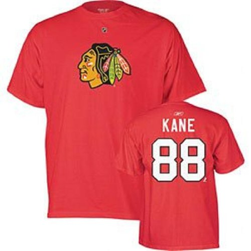 Chicago Blackhawks Patrick Kane Red Name and Number T-Shirt (2X)