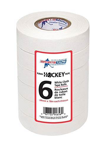 (Sports Tape White Hockey Tape, 6 Rolls, 1 Inch Wide, 20 Yards Long)