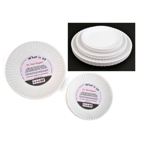 Amazon.com |  What Is It?  Reusable White Appetizer or Dessert Plate 6 Inch Melamine Set of 4 Accent Plates  sc 1 st  Amazon.com & Amazon.com |