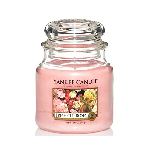 Yankee Candle Fresh Cut Roses Medium Classic Jar Candle