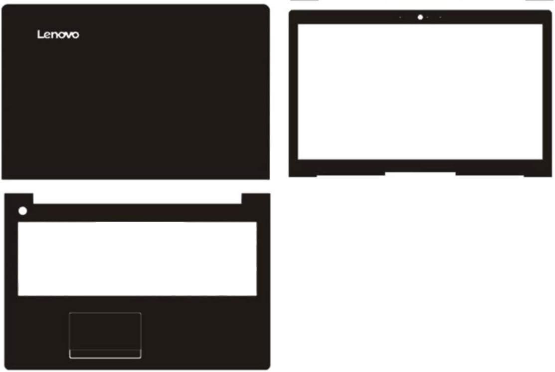 Special Laptop Black Carbon fiber Vinyl Skin Stickers Cover for Lenovo IdeaPad 310-15ISK 310-15IKB 310-15/ideapad 510-15 15.6-inch