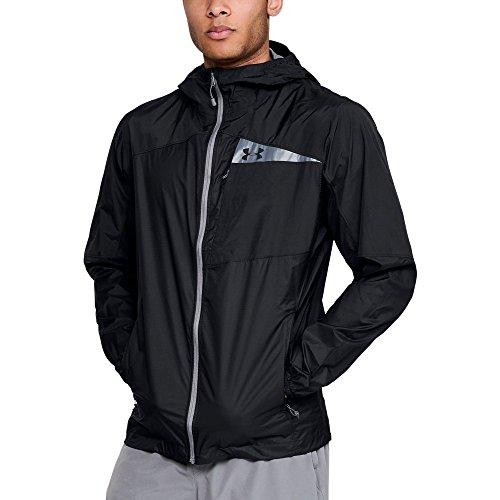 Under Armour Men's Scrambler Hybrid Jacket, Black/Graphite, Small