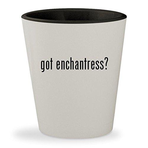 got enchantress? - White Outer & Black Inner Ceramic 1.5oz Shot Glass